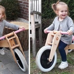 Team Blabloom test uit: de Wishbone 3-in-1 houten loopfiets