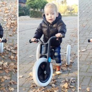 De Wishbone bike, de eerste loopfiets van Seb
