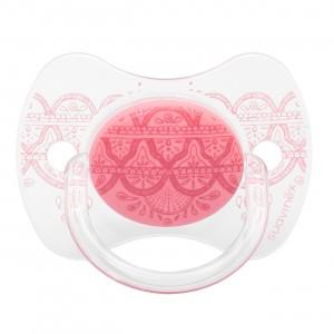 Suavinex Fopspeen HauteCouture Fysiologisch Silicone  0-4 maanden Pink