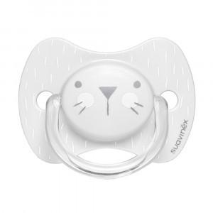 Suavinex Fopspeen Hygge Fysiologisch Silicone 0-6 maand Gray Whiskers