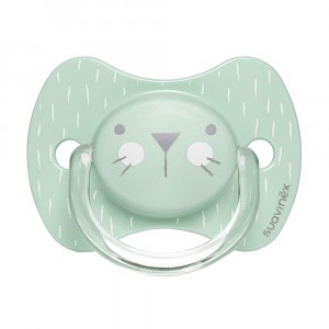 Suavinex Fopspeen Hygge Fysiologisch Silicone 0-6 maand Green Whiskers