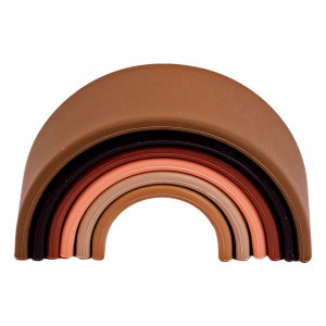 Dëna Silicone Speelgoed Regenboog Diversity Klein (Lengte 10 cm)