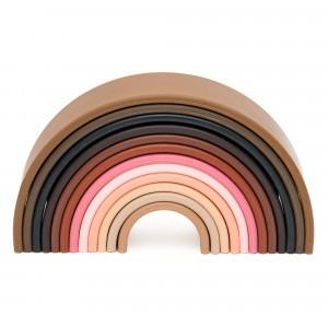 Dëna Silicone Speelgoed Regenboog Diversity Groot (Lengte 18 cm)