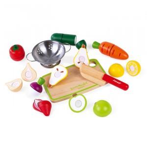 Janod Maxi Set Fruit en Groenten met snijplank