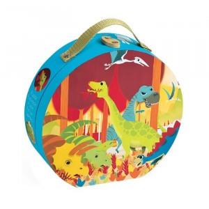 Janod Puzzelkoffertje Dinosaurussen