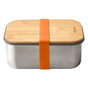 Black + Blum Lunchbox met Bamboe Deksel Large - Orange