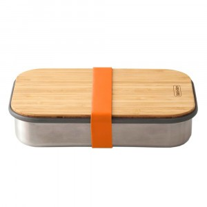 Black + Blum Lunchbox met Bamboe Deksel Small - Orange