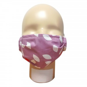 Popolini Wasbaar Mondmasker SIMPLE Leaves Violet