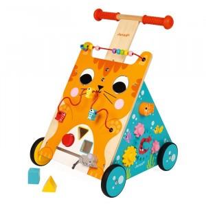 Janod Activiteiten Loopwagen Kat