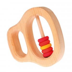Grimm's Rammelaar met kleine Rode ringen (8 cm)