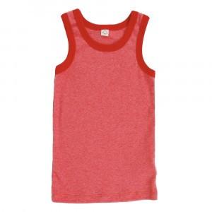Popolini Onderhemdje Fine Rib Red Melange (86/92-98/104)