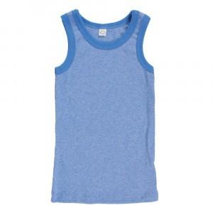 Popolini Onderhemdje Fine Rib Blue Melange (86/92-98/104)