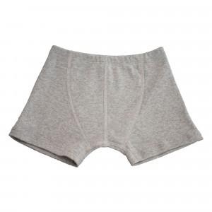 Popolini Boxershorts Fine Rib Grey (110/116-122/128)