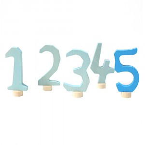 Grimm's Decoratieve Cijfers Set 1-5 Blauw