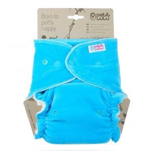 Petit Lulu Luier Velour Maxi Snaps Turquoise (7-16kg)
