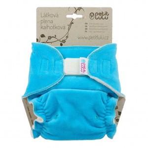 Petit Lulu Luier Velour Maxi Velcro Turquoise (7-16kg)