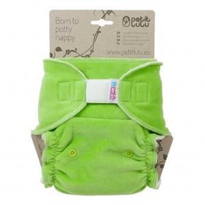 Petit Lulu One Size Luier Velour Maxi Velcro Groen (7-16kg)