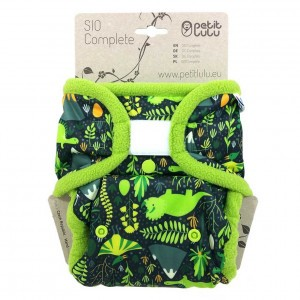 Petit Lulu Snap in One Luier Velcro Dino's (4-15kg)