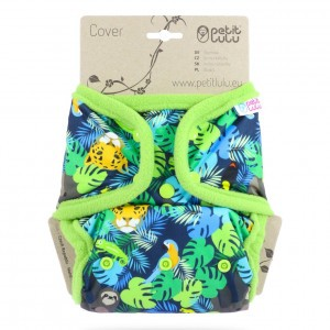 Petit Lulu One Size Overbroekje Snaps Jungle (4-15kg)