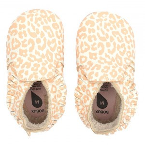 Bobux Soft Soles Leopard Print Vanilla