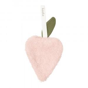 Koeka Speendoekje Aardbei Dijon organic Shadow Pink