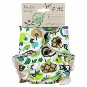 Petit Lulu Luier Newborn Appels (2-6kg) Fluffy Organic
