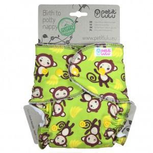 Petit Lulu One Size Luier Snaps Aapjes (4-15kg) Fluffy Organic
