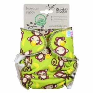 Petit Lulu Luier Newborn Aapjes (2-6kg) Fluffy Organic