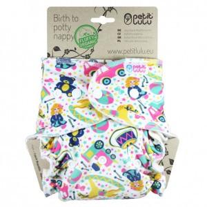 Petit Lulu One Size Luier Katoen Maxi Snaps Speelgoed (7-16kg) Fluffy Organic