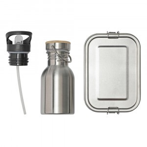 Haps Nordic Lunchset Lunchbox + Drinkfles Stainless Steel