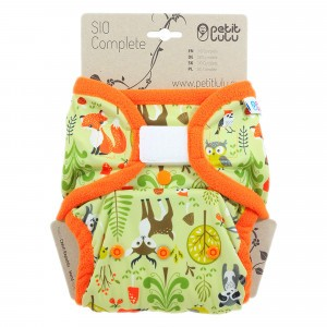 Petit Lulu Snap in One Luier Velcro Forest Animals (4-15kg)