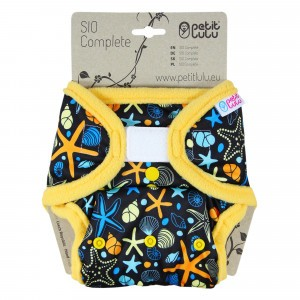 Petit Lulu Snap in One Luier Velcro Ocean Treasures (4-15kg)