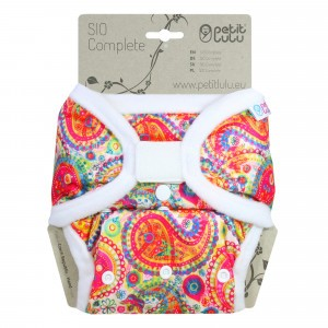 Petit Lulu Snap in One Luier Velcro Colourful Orient (4-15kg)