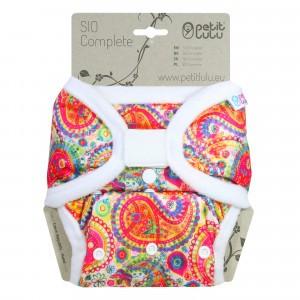 Petit Lulu Snap in One Luier Velcro Colourful Orient (4-15kg)