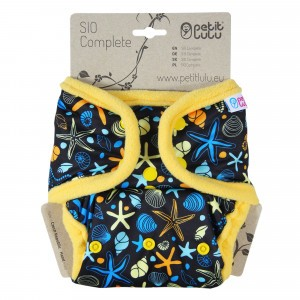Petit Lulu Snap in One Luier Snaps Ocean Treasures (4-15kg)