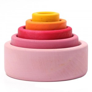 Grimm's Set van Gekleurde Schaaltjes Lollipop (9 cm)