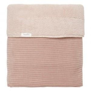 Koeka Wiegdeken Teddy Vik (75 x 100 cm) Grey Pink