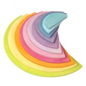 Grimm's Bouwset Halve Cirkels Pastel (38 cm)