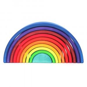 """Grimm's Bouwset Regenboog """"Counting Rainbow"""" Blauw (Lengte 27,5 cm)"""