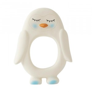 Oyoy Rubberen Bijtring Penguin White