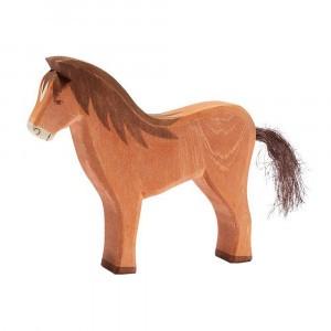Ostheimer Houten boerderijdiertje Paard staand (13,5cm)