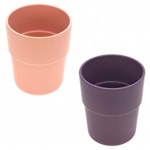Lassig Bamboe Beker (2 stuks) - Roze
