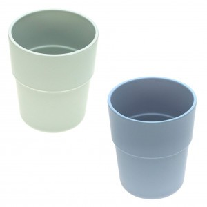 Lassig Bamboo Beker (2 stuks) - Blauw