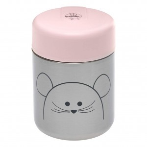 Lässig Thermosbox Muis Roze (315 ml)