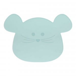 Lässig Silicone Placemat Little Chums Muis Blauw