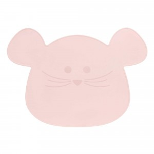 Lässig Silicone Placemat Little Chums Muis Roze