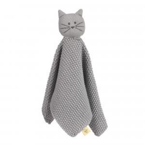 Lässig Gebreid Knuffeldoekje Little Chums 'Cat'