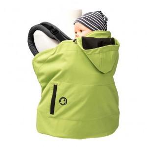Mamalila Cover Softshell Appel Groen (voor ergonomische draagzak)