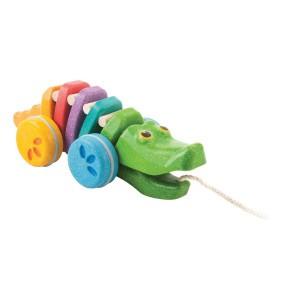 PlanToys Trekspeeltje Regenboog Krokodil