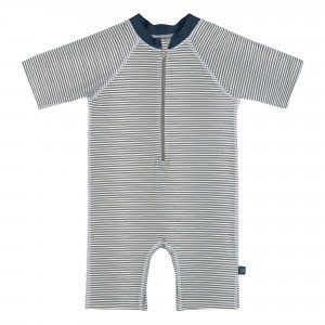 Lässig Splash & Fun UV Sunsuit Korte Mouwen - Striped Blue